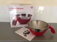 Morphy Richards 3 in 1 Jug Kitchen Scale - Red