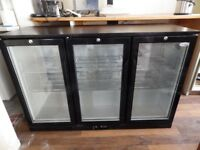 Interlevin 3 door back bar cooler/under counter fridge.