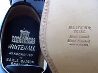 Vintage Mens Shoes Handcrafted in England by Whitehall Footwear Leather Soles/ Uppers Unworn in box