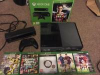 Xbox one boxed with Kinect and games