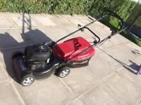 Petrol lawnmower for sale with grass box
