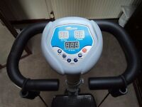 Vibrapower. Vibration plate with resistance bands.
