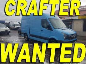 Volkswagen Crafter Wanted { WE BUY YOUR CRAFTER ANY CONDITION !!! }