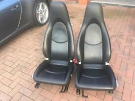 Porsche leather seats
