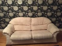Free but you must collect, 2 x sofas. 1 x three seater and 1 x two seater