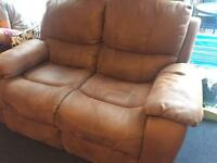 2 seater suede recliner sofa