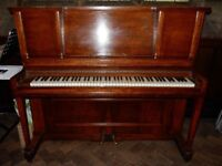 Upright Wilson Peck Piano on castors. 5ft height x 52'' width x 25'' depth. Tuned annually.