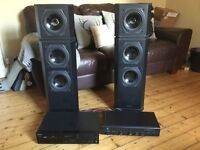 Tannoy 613 floorstanders, Arcam Alpha amp and Sony CD player. Hi fi heaven!