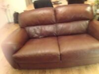 Italian leather sofa a 3 seater and a 2 seater