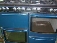 newworld gas range cooker blue