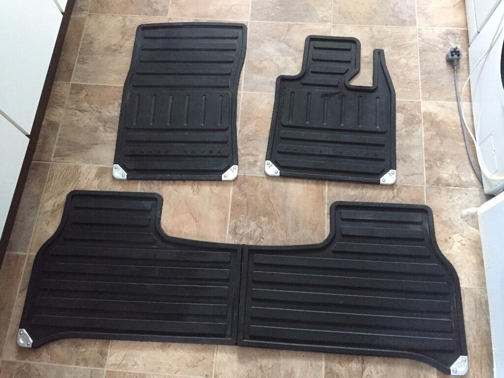 MATS Fits Range Rovers Range Rover genuine set of 4 rubber contoured floor mats, in black