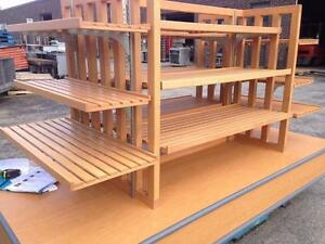 Wooden Island Merchandiser/ Display Stand