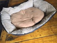 Faux leather & soft fabric medium/large dog bed