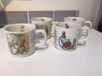 Vintage Wedgewood Beatrix Potter Mugs