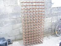 Very large cellar type wine rack for 105 bottles