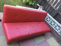 Free to uplift - red couch bed