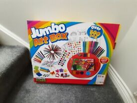 NEW creative kids jumbo art box plus NEW paint your own puppy money box