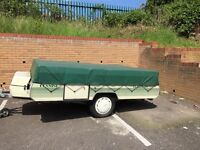 Pennine Folding camper 6 berth - includes heater, electric hook up, fridge & more ready to go