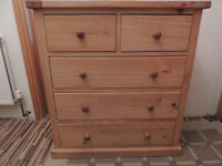 Strong pine throughout chest of drawers (Delivery)