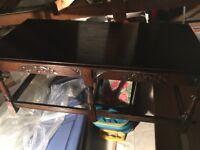 Jaycee solid oak coffee table & matching side table