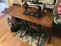 Vintage Cast Iron Table Singer Sewing Machine