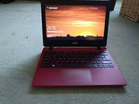 Acer ES1-131 netbook / laptop with carry case red