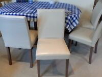 4x Faux Leather Dining Chairs