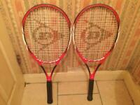 2 Dunlop X Fire C100 Tennis Rackets