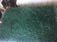 Teal shaggy rug 120x170