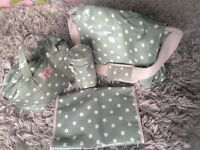 Used Cath Kidston olive green Baby nappy carrier bag