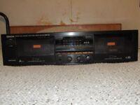 Double Cassette Deck Denon DRW-650.
