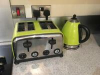 Colour match toaster and kettle