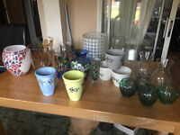 Large Vases and Candle Holders and Mixed stuff Bundle.