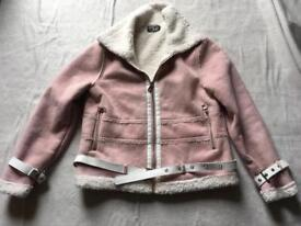 MG ladies suede waist jacket pink ex condition size 12 used £8