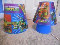lightshade, lamp and bedding - Teenage Mutant Ninja Turtles
