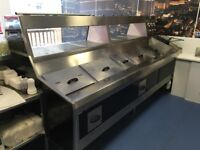 Gas three pan fryer and chip pan