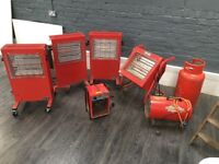 Selection of industrial heaters from Machine Mart (worth £690)