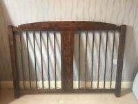Laura Ashley bed frame in king size. wooden & copper spindle inserts. Good condition ready to go