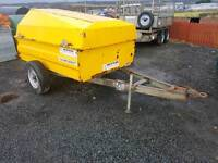 Western 1100 litre bunded diesel tank bowser trailer with pump and nozzle ready to use
