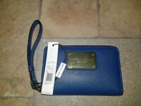 Marc Jacobs Classic Wallet Wristlet Azure Blue - Brand New...
