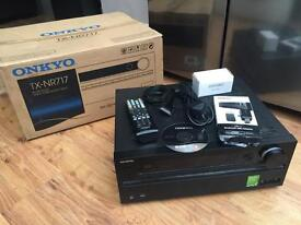 Onkyo TX-NR717 A/V Receiver + Accessories (Perfect Condition)