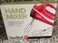 VonShef hand held mixer (red)