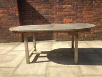 Teak Garden Table Seats 6-8 Very Well Made Solid Teak Wood Garden or Patio Table