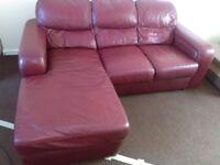 leather sofa corner