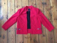 Trouve Red Women's Blazer (worn once)