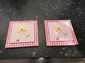 Girls Pink Picture Frames