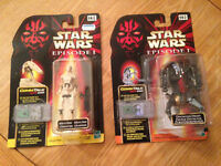 Star Wars Episode 1 Battle Droid and Destroyer Droid Figures with commtalk chips - Didsbury area