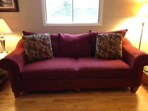 Large burgundy couch