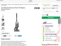 BNIB VAX Dynamo power pet bagless vacuum cleaner U84-DY-Pe