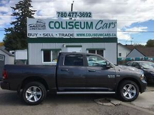 2015 Dodge Ram 1500 SPORT, LOAED, 4X4, LEATHER, ONLY 13KM